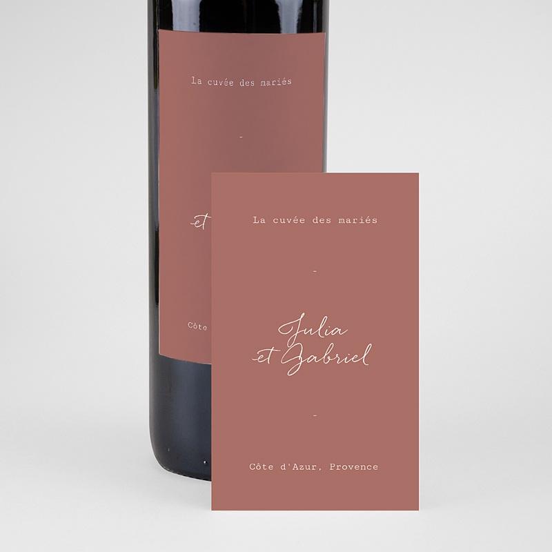 Etiquette Bouteille Mariage Arche Bohème, Vin pas cher
