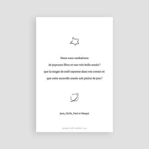 Carte de Voeux Esquisse & dorure, Echos du Petit Prince pas cher