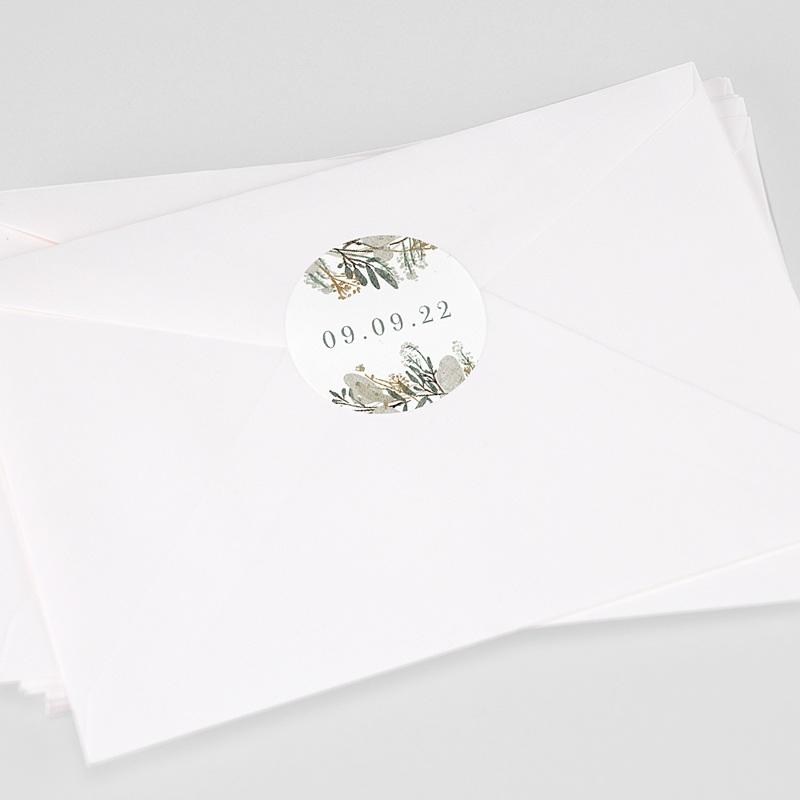 Etiquette Autocollante Mariage Couronne Monnaie du Pape, sticker