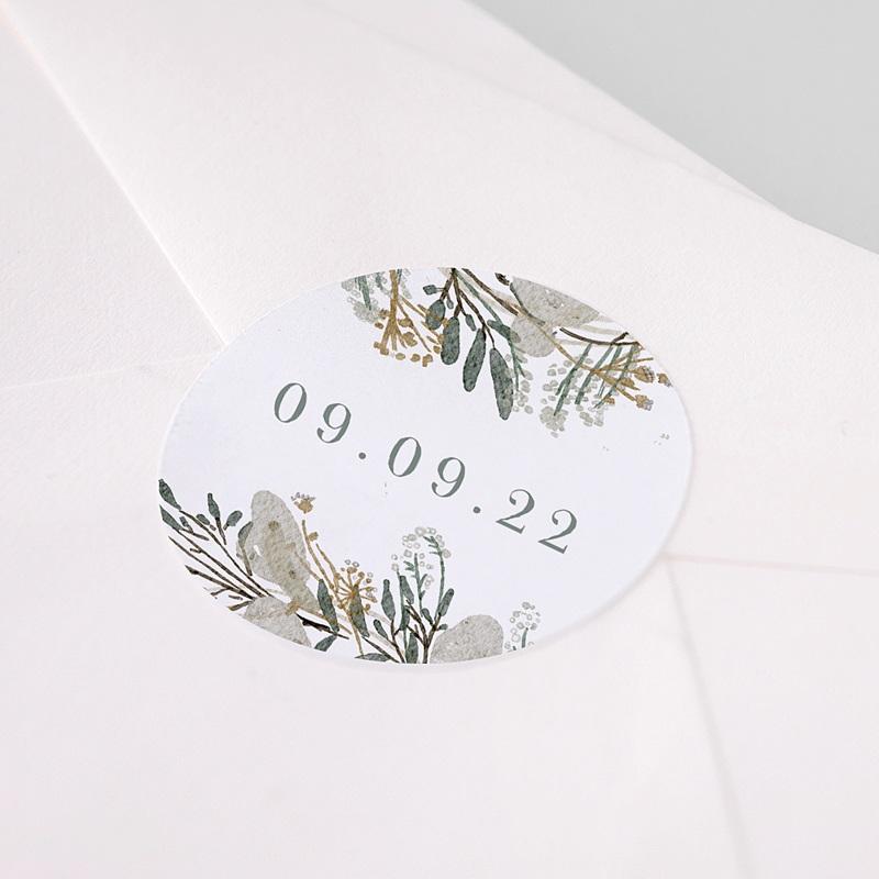 Etiquette Autocollante Mariage Couronne Monnaie du Pape, sticker pas cher