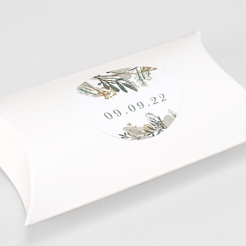 Etiquette Autocollante Mariage Couronne Monnaie du Pape, sticker gratuit
