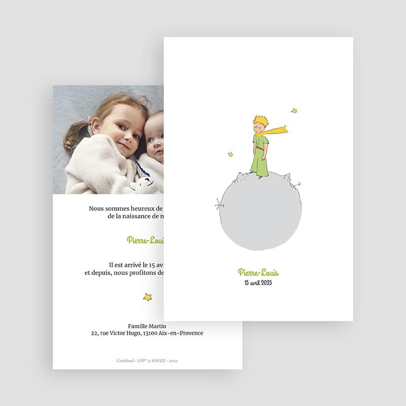 Faire-Part Naissance Planète du Petit Prince, 10 x 15 cm gratuit