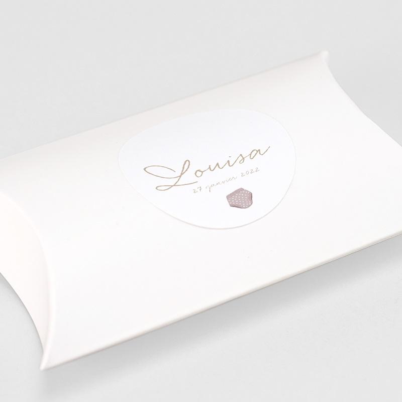Etiquette Autocollante Naissance Fil à linge layette rose, sticker gratuit