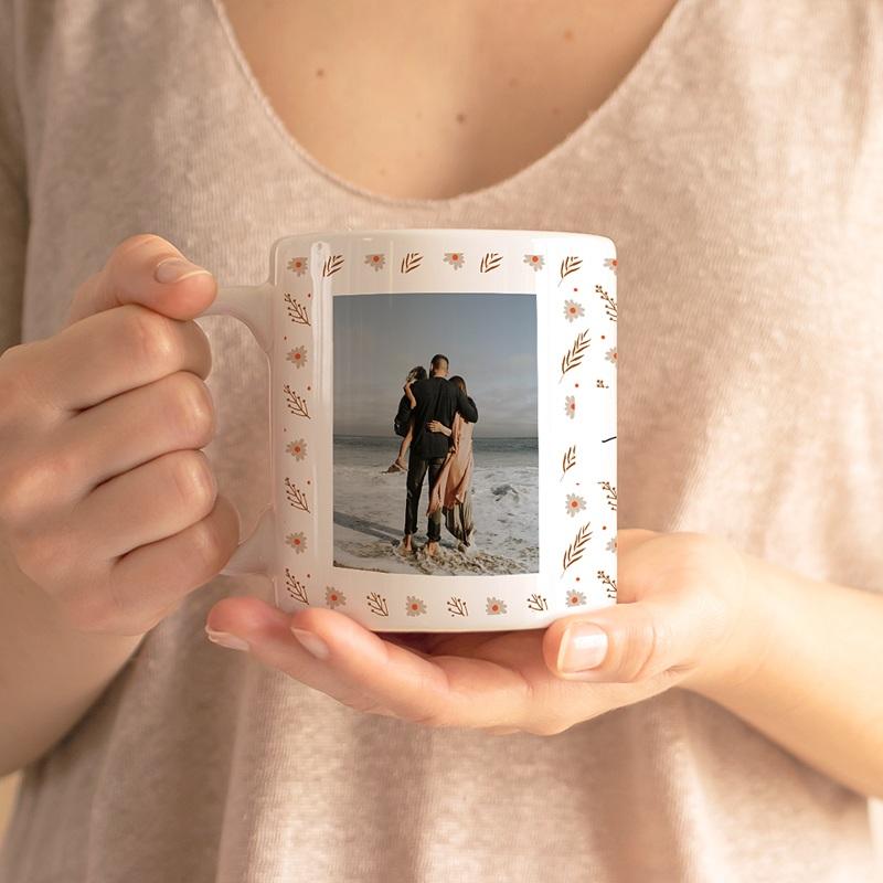 Mug Personnalisé Photo Maman d'amour, 2 Photos gratuit