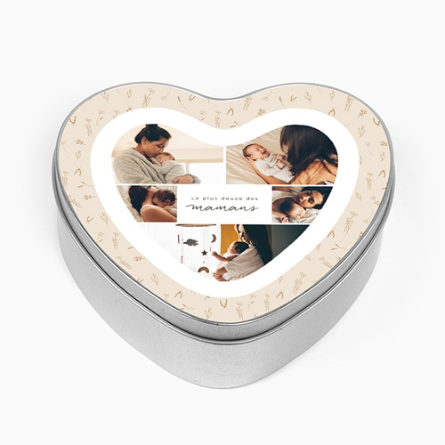 Boîte Personnalisée Photo Petit herbier du Coeur pour Maman
