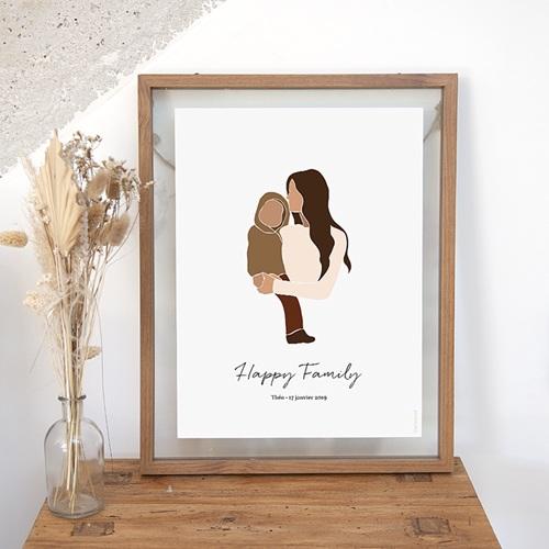 Affiches Happy Family 1 enfant
