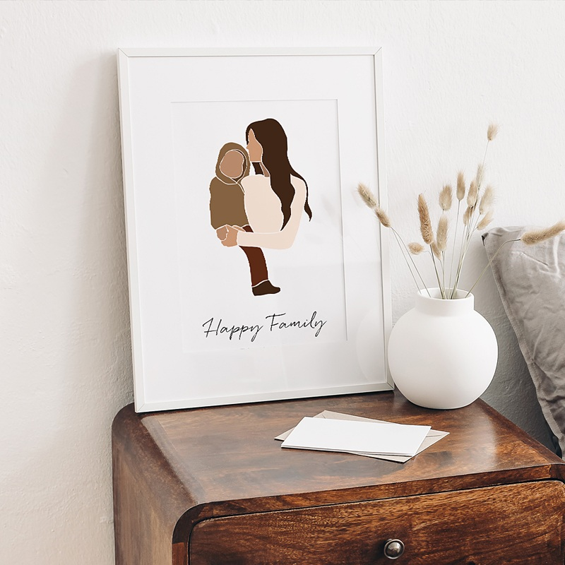 Affiches Happy Family 1 enfant gratuit