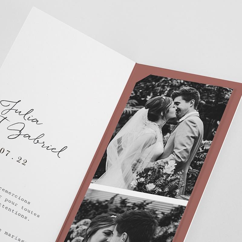 Carte Remerciement Mariage Arche Bohème, 2 en 1 pas cher