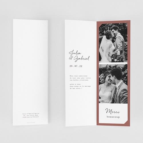Carte Remerciement Mariage Arche Bohème, 2 en 1 gratuit