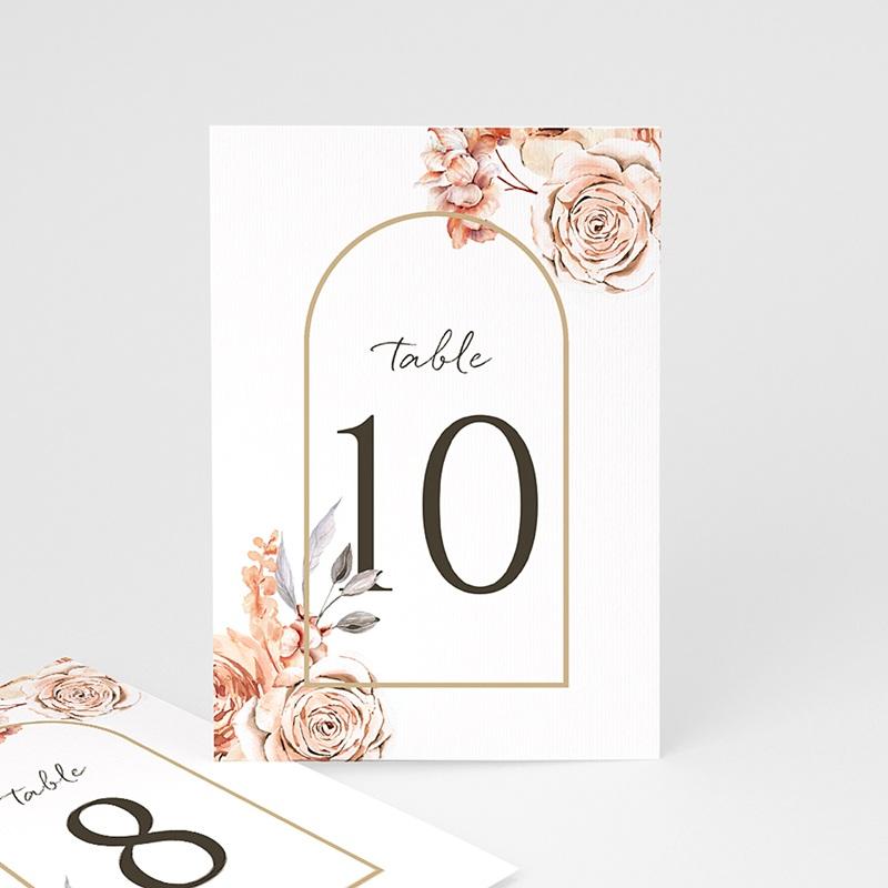Marque Table Mariage Romantico, Roses caramel