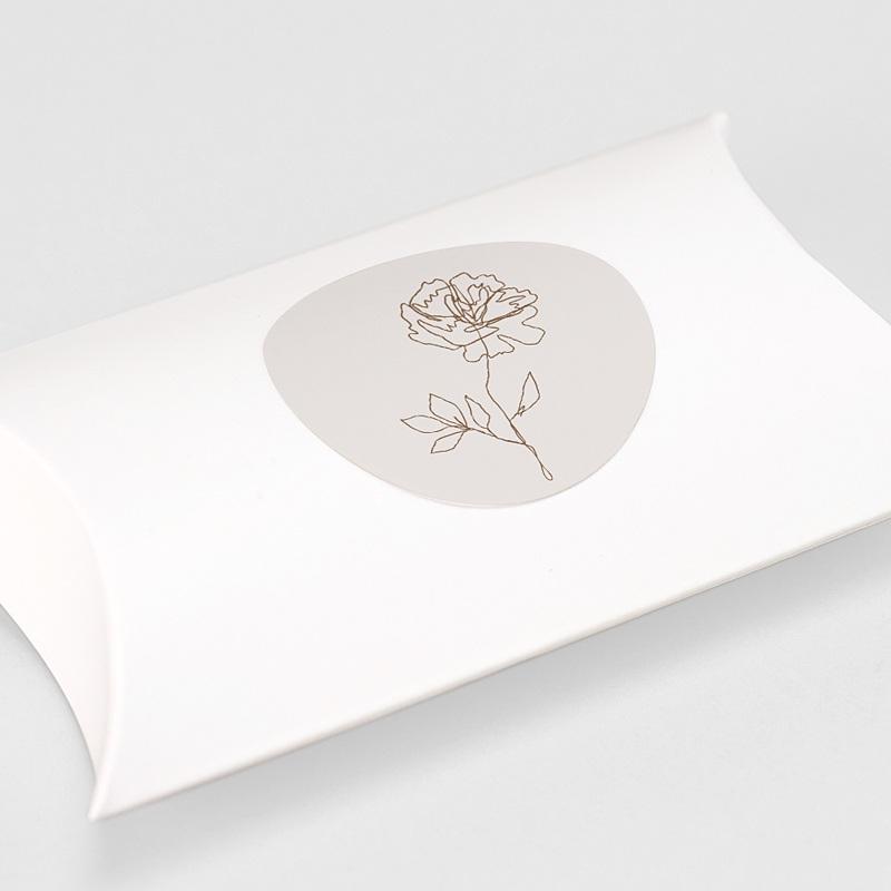 Etiquette Autocollante Mariage Pivoine en silhouette, Sticker gratuit