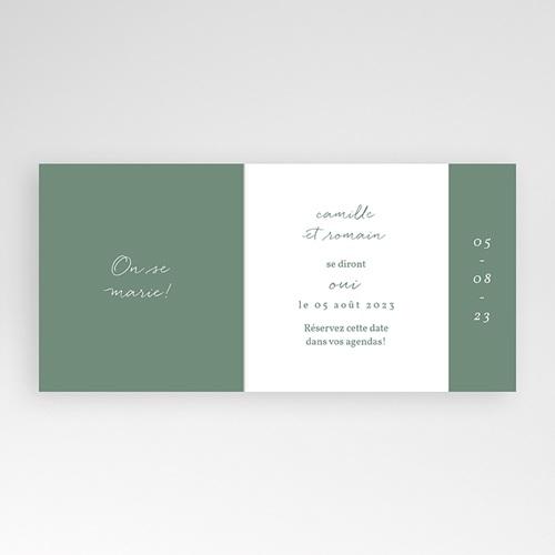Save The Date Mariage Brin doré minimaliste, Jour J pas cher