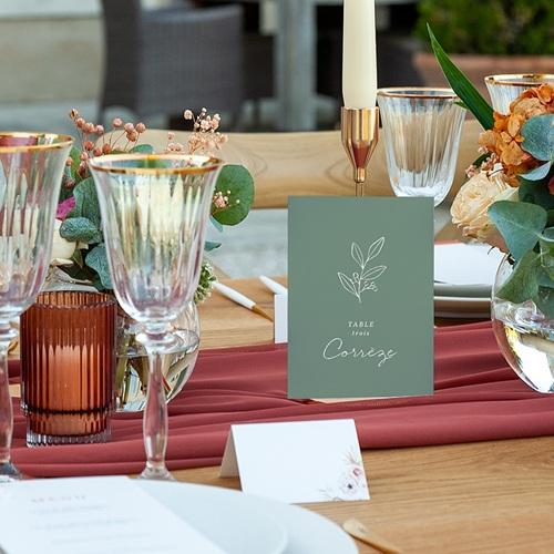 Marque Table Mariage Brin doré minimaliste, Lot de 3 pas cher