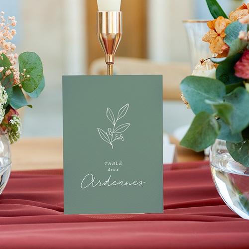 Marque Table Mariage Brin doré minimaliste, Lot de 3 gratuit