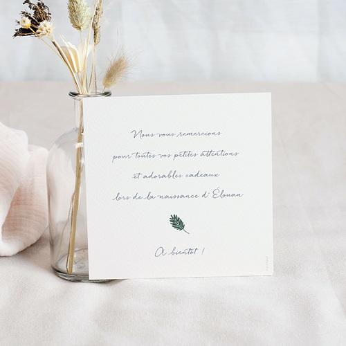 Carte Remerciement Naissance Fil à Linge Marin, 10 X 10 cm pas cher