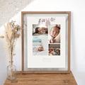Affiches Fil à linge layette rose, multiphotos