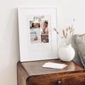 Affiches Fil à linge layette rose, multiphotos gratuit