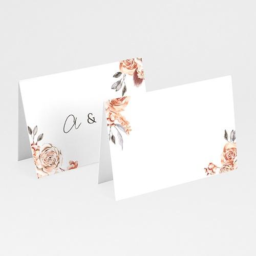 Marque Place Mariage Romantico, Roses caramel, 7,5 x 5,2 cm