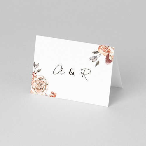 Marque Place Mariage Romantico, Roses caramel, 7,5 x 5,2 cm pas cher