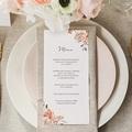 Menu Mariage Romantico, Roses caramel, 10 x 21 cm gratuit