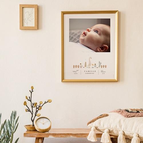 Affiches Bébé Oie, Photoportrait déco, 30 x 40 cm