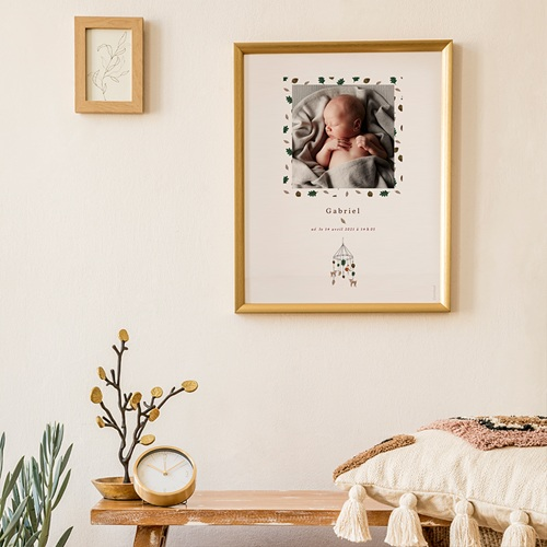 Affiches Mobile Forêt enchantée, Affiche Chambre d'Enfant, 30 x 40 cm