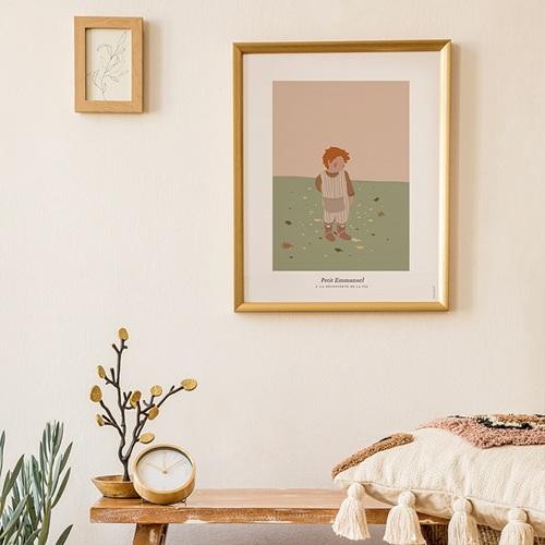 Affiches Emmanuel découvre la vie, 30 x 40 cm