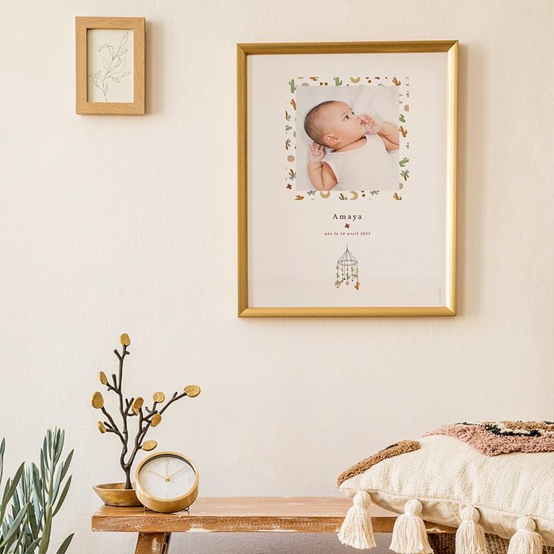 Affiches Mobile Désert en Folie, Poster Chambre d'Enfant, 30 x 40 cm
