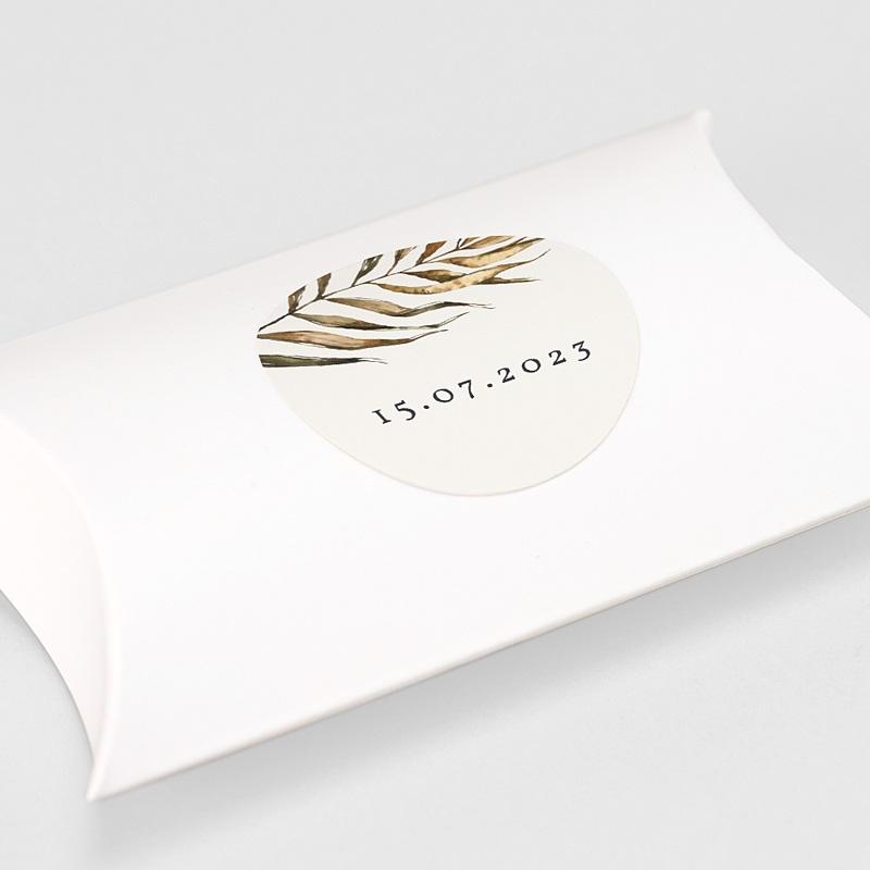 Etiquette Autocollante Mariage Cadre bohème tropical, sticker gratuit