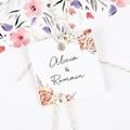 Etiquette Cadeau Mariage Romantico, Roses caramel gratuit