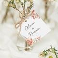 Etiquette Cadeau Mariage Romantico, Roses caramel