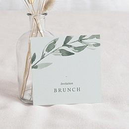 Carte Invitation - Cadre Végétal, Brunch - 0