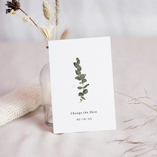 Change The Date Mariage Eucalyptus aquarelle, Date reportée