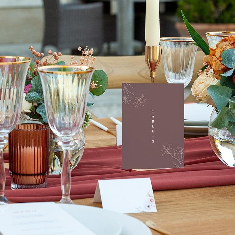 Marque Table Mariage Lys en Silhouette, lot de 3 pas cher