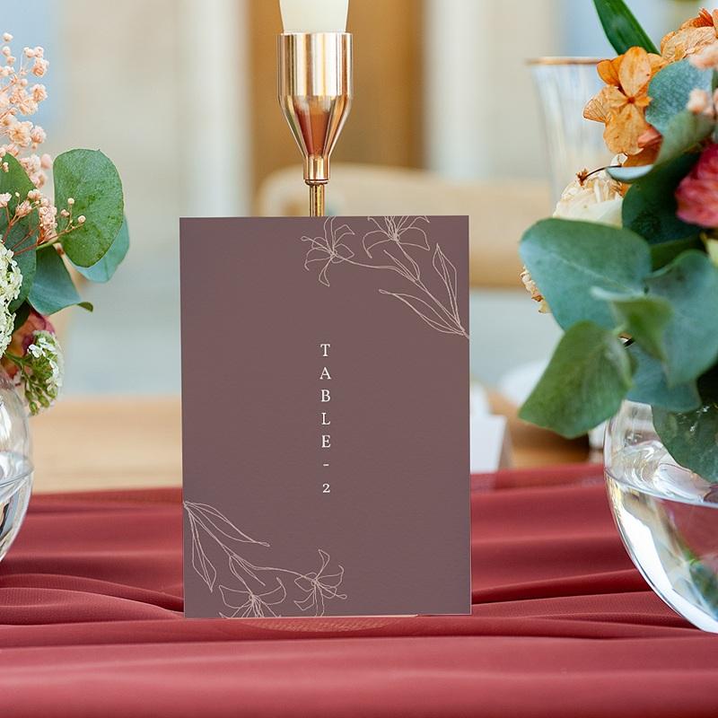 Marque Table Mariage Lys en Silhouette, lot de 3 gratuit