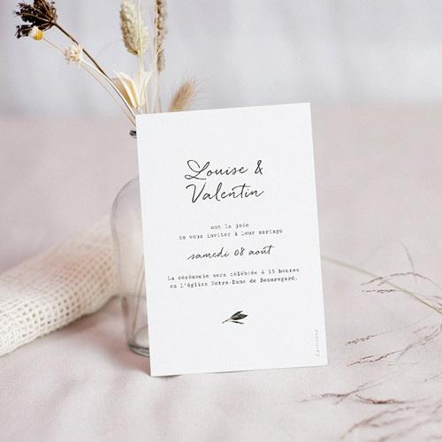 Save The Date Mariage Bouquet Fleurs Rouges, Jour J pas cher