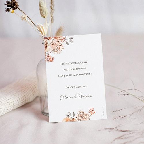 Save The Date Mariage Romantico, Roses caramel, Jour J pas cher
