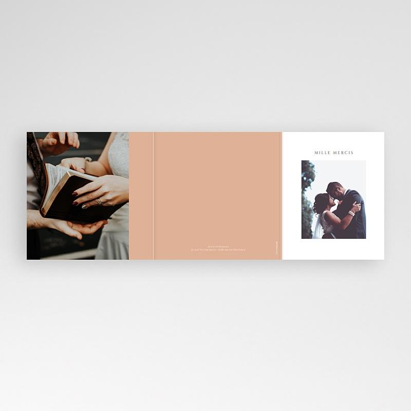 Carte Remerciement Mariage Romantico, Roses caramel, 3 volets décalés gratuit