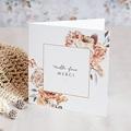 Carte Remerciement Mariage Romantico, Roses caramel, 2 volets x photo