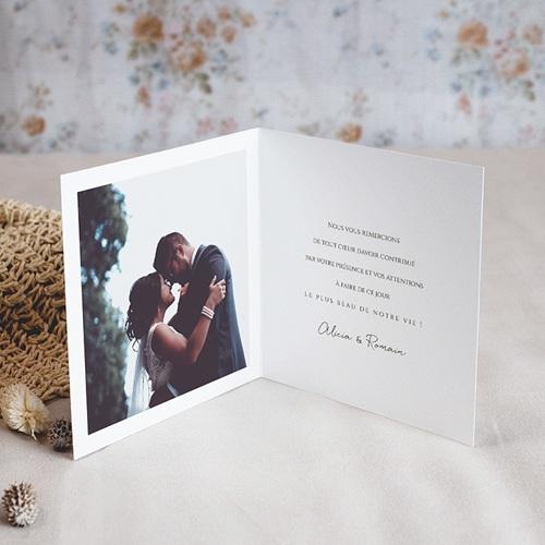 Carte Remerciement Mariage Romantico, Roses caramel, 2 volets x photo pas cher