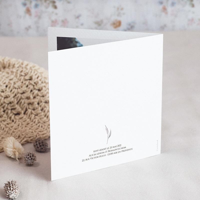 Carte Remerciement Mariage Romantico, Roses caramel, 2 volets x photo gratuit
