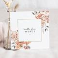 Carte Remerciement Mariage Classique Romantico, Roses caramel, 14 x 14