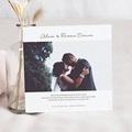 Carte Remerciement Mariage Classique Romantico, Roses caramel, 14 x 14 pas cher