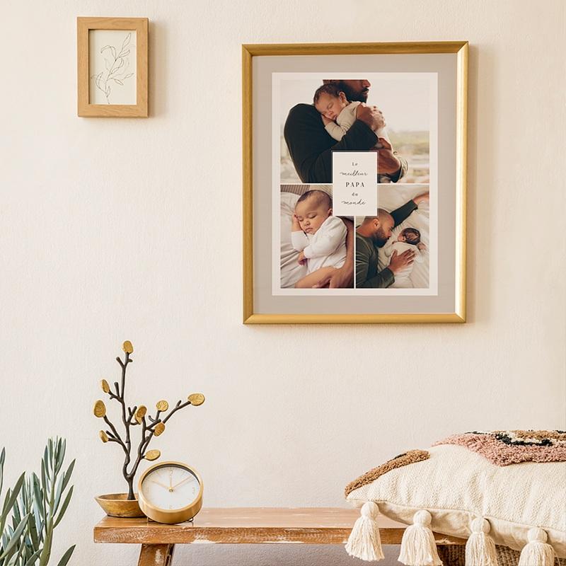 Affiches La vie en famille, beige, 3 photos