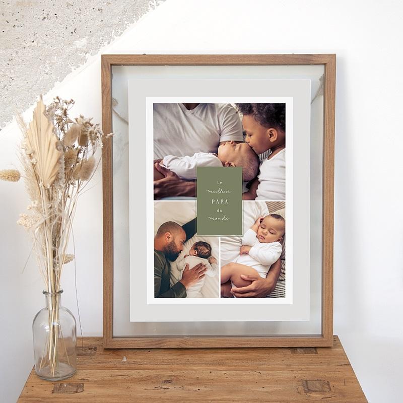 Affiches La vie en famille, vert, 3 photos