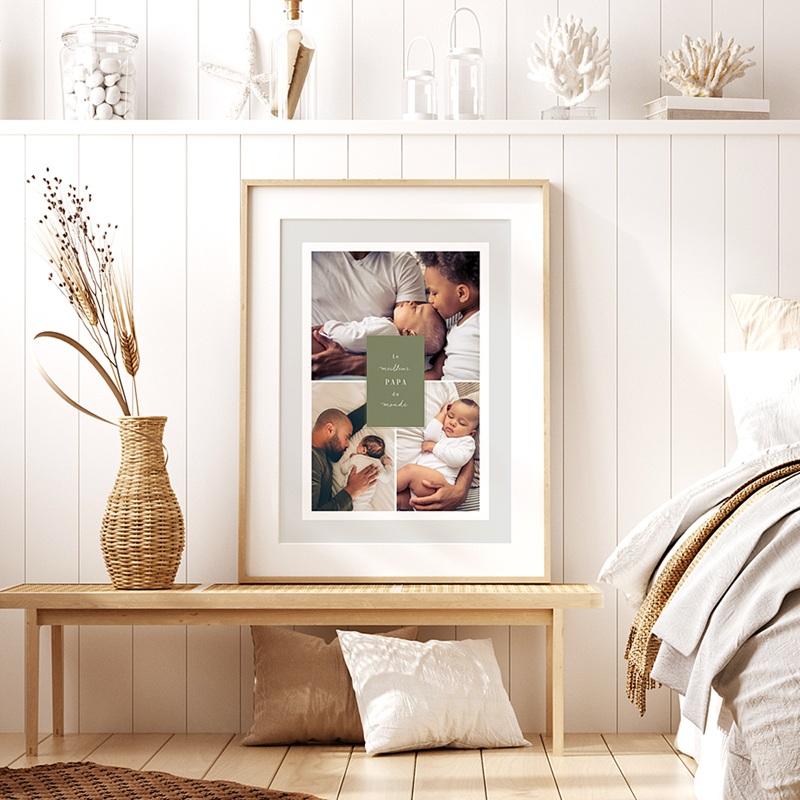 Affiches La vie en famille, vert, 3 photos pas cher