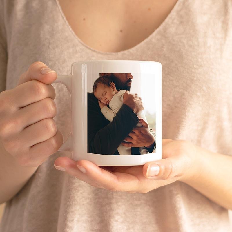 Mug Personnalisé Photo La vie en famille, vert, 2 photos, 32 cl gratuit