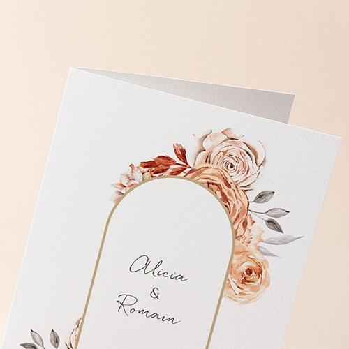 Faire-Part Mariage Romantico, Roses caramel, 12 x 17 cm gratuit