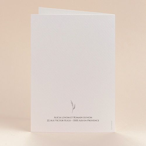 Faire-Part Mariage Romantico, Roses caramel, 12 x 17 cm