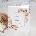 Faire-Part Mariage Romantique Romantico, Roses caramel, 14 x 14 cm